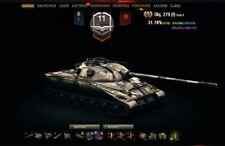 WOT Account World of Tanks 132 Tanks ALLE TierX 42k Anleihen, 12k Gold 49 Premiu
