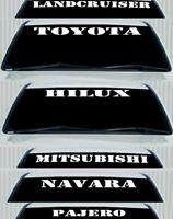 decal toyota sticker Hilux Pejero Landcruiser Navara windscreen window car 4x4
