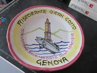 Plato De Buon Recuerdo Restaurante Gran Gotto Génova Años 70/80