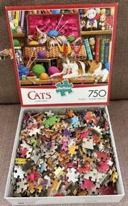 "Buffalo Puzzle 750 Pieces CATS COMFY SPOT 24"" x 18"" Complete #97070"