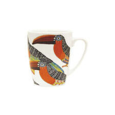 More details for paradise birds mug toucan fine china oak shaped 400ml from queens churchill