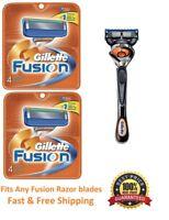 ^9 Gillette Fusion Flex Ball Razor Blades Cartridges Refills Shaver fit Proglide