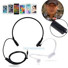 Covert Acoustic Earpiece Tube Throat MIC Headset for iPhone Android HTC MOTOROLA