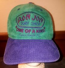 VTG RON JON SURF SHOP CORDUROY SNAPBACK HAT COCO BEACH FL