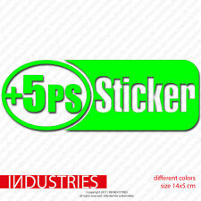 + 5 CH HP autocollant sticker 14x5 | auto car Fun JDM shocker massif GTI