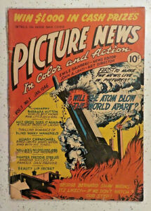 Picture News #1 ! 1946 ! JACK KIRBY ! GEORGE ROUSSOS ! NICE PGS but.. hayfamzone