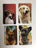 4 x Vintage 70s Swap Cards: Dog Portraits