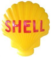 SHELL BOWSER PUMP GLOBE LARGE YELLOW REPO LIGHT FUEL PETROL PUMP COLLECTORS NEW