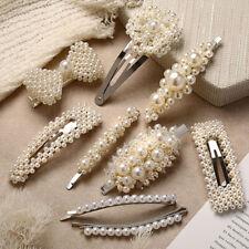42 Styles Diamante Crystal Pearl Bead Flower Barrette Hair Clip Clamp Hairpin