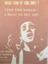 WHAT KIND OF FOOL AM I? (Anthony Newley) VINTAGE SHEET MUSIC AUSTRALIA (M281)
