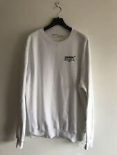 OFF-WHITE OFF WHITE VIRGIL LOGO EMBROIDERED SWEATSHIRT SIZE XL RRP £390