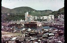 HK274 35mm Slide Aberdeen Hong Kong Red Border Color Transparency