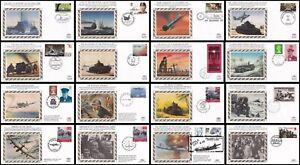 1991-1997 50th Anniversary of World War II Benham Silk Covers: Multi Listing