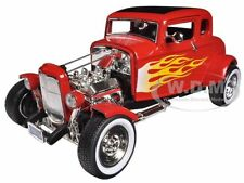 1932 FORD HOT ROD RED WITH FLAMES LIMITED ED. 1/18 PLATINUM BY MOTORMAX 77172