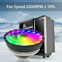 RGB Color CPU Cooler LED Air Heatsink Intel AMD PC Processor Desktop Cooling Fan