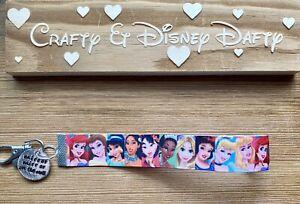 Disney Princess-inspired Key Fob Wristlet Key Chain Lanyard