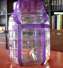 Gärballon 8 L. mit Edelstahldrehzapfhahn Weinballon Glasballon Gärstopfen Hahn