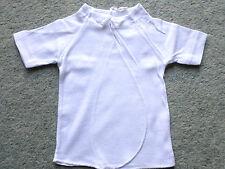 5er Pack Baby-Flügel Hemdchen Bindehemden 1/4Arm Baumwolle Weiß Gr.74/80 NEU OVP