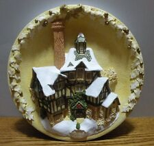 "1994 David Winter Cottages ""The Scrooge Family Home"" Christmas Plaque numbered"