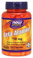 NOW Foods Beta-Alanine 750 mg, 120 Capsule