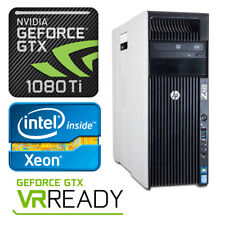 HP Z620 4K Gaming Computer Workstation 2.7GHz 24 Cores GTX1080Ti 64GB RAM PC