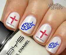 "RTG Set#553 IMAGE ""Jesus 1 Fish Cross"" WaterSlide Decals Nail Art Transfers"