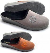 Damen leichte Pantoffeln HausSchuhe Latschen Schlappen feste Laufsohle 36-42 NEU