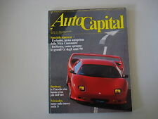 AUTOCAPITAL 3/1991 MERCEDES SERIE S/ALFA 164 TURBO/FIAT CROMA/MASERATI RACING
