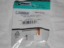 NEW Panduit CJ588BWH Cat 5e Mini-Com Cat5E e WHITE Wall Jack RJ45 Module USA