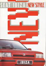 Seat Ibiza folleto 7 91 brochure 1991 auto turismos auto folleto folleto España