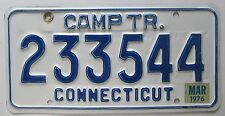 Connecticut 1976 CAMPING TRAILER License Plate HIGH QUALITY # 233544