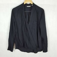 Country Road Top Size S Black Crossover Front Long Sleeve