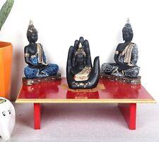 Indian Wooden Buddhist meditation altar Table Puja Chowki Low Small Tea Table
