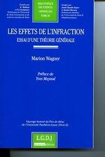 Marion WAGNER Les effets de l'infraction essai d'une théorie générale LGDJ