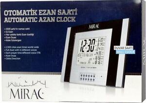 MIRAC Ezan Saati Azan Uhr Gebetsuhr - Masa/Duvar/Kabe Tisch/Wand - Neu&OVP