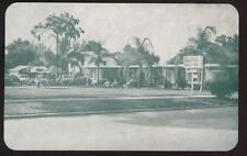 Postcard Clearwater Fl Motel Aqua Clara 1940's
