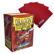 100 FUNDAS DRAGON SHIELD ROJO MTG MAGIC - PROTECTIVE SLEEVES RED