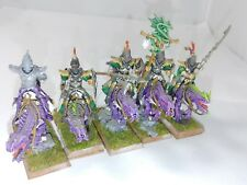 Warhammer Fantasy/Age of Sigmar Dark Elves Cold One Knights Painted #2