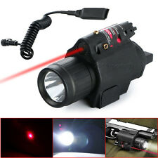 Tactical Combo Cree Led Flashlight Lights Red Laser Sight Fit For Pistol Glock