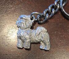 Rare Vintage New GG Harris Pewter Keychain Key Chain Pup Canine Shihtzu Shih Tzu