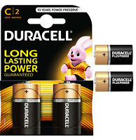 GENUINE 2X DURACELL C SIZE PLUS POWER ALKALINE BATTERIES (LR14, MN1400, MX1400)