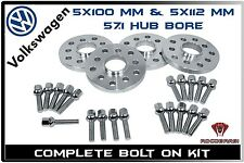 Complete Bolt On 20mm Hub Centric Wheel Spacers | Fits VW GTI Jetta Golf VR6