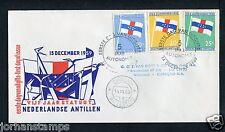 Ned. Antillen FDC E12 _2 M, met adres ;