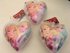 3 x Disney Store Frozen Christmas Tree Baubles | Hanging Snow-Globe Decorations