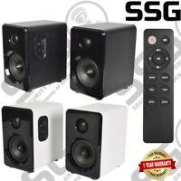 Active Bluetooth Bookshelf Studio Speakers For TV/MAC/PC/Laptop Black or White