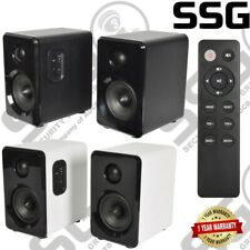 Active Bluetooth Bookshelf Studio Speakers For TV/MAC/PC/Laptop Black or White