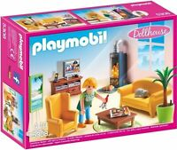 5308 Playmobil Living Room with Fireplace Dollhouse Suitable for ages 4 years an