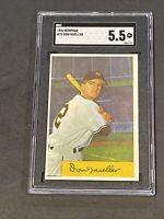 1954 Bowman #73 Don Mueller SGC 5.5 New Label Graded