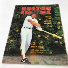 Rare 1986 Boston Red Sox Team Signed Spring Training Program W/ Original Ticket