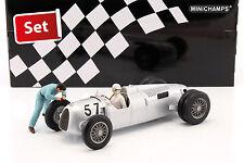 Set: Figutec Figur + Auto Union Typ C #57 Winner Shelsley Walsh Hillclimb 1936 S